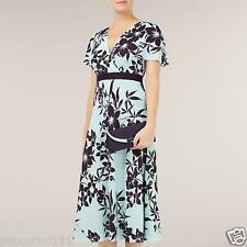 New JACQUES VERT Dress 20 Chiffon Aqua & Damson Wedding Floral Tags rrp £169