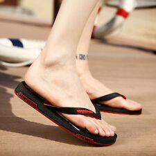 Mens Students Flat Beach Flip Flops Slippers Casual Antiskid Cozy Sandals Shoes