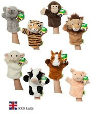 """10"""" ANIMAL PUPPETS Hand Glove Wild Farm Puppet Soft Plush Kids Baby Toy + SOUNDS"""