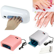 9W 36W UV Lamp Salon Gel Curing Nail Polish Acrylic Timer Light Manicure Dryer