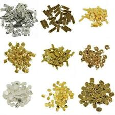 50Pcs Made With Love Heart Charms Bead Pendants Jewelry Making Finding DIY Craft