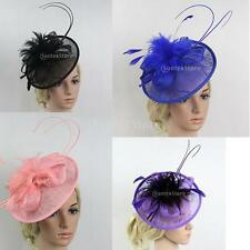 Feather Looped Headband Elegant Fascinator Ladies Day Wedding Prom Royal Ascot