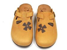 Orthaheel Deva Toffee Leather Clog w/ Arch Support Adjustable Straps size10**
