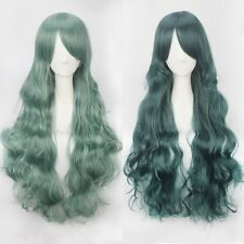 Women Fashion Lady Anime Long Curly Wavy Hair Party Cosplay Full Wigs Costume