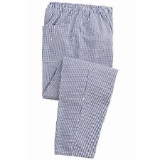 Premier Catering Pull-on Chefs Trousers by Premier PR550 Navy/White Check UK 2XL