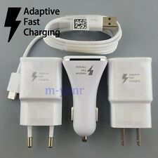 Fast LED Car Adapter Wall Charger USB Type-C Cable for Samsung Galaxy S8 S8 Plus