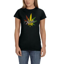 Rasta Marijuana Weed Pot Leaf 420 Kush Chronic Funny Womens T-Shirt Tee