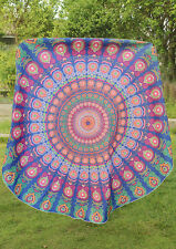 Holiday Travel Gym Camping Bath Pool Cover Ups Floral Print Round Blanket Towels