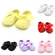 AU Toddler Soft Sole Cotton Shoes Baby Infant Girls Shoes Prewalkers Size 0-18M