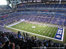 2 Cleveland Browns vs Indianapolis Colts 9/24 Tickets 3rd Row Aisle Lucas Oil