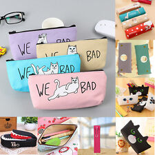 NEW Student Pen Pencil Case Coin Purse Storage Pouch Cosmetic Makeup Bag