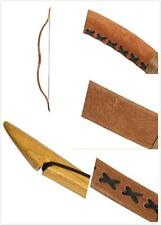 Archery Handmade Traditional Bow Brown Pigskin Longbow Recurve Bow 20lb-110lb