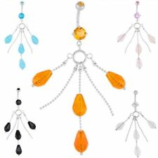 CZ Chandelier Dangle Belly Button Navel Rings