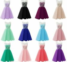 Short Formal Lace Wedding Party Dress Bridesmaid evening Cocktail Dress New Colo