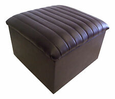 Large Quilted Top Faux leather Storage Box/Pouffe/Footstool