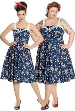 Hell Bunny Oceana 50s Dress Retro Rockabilly PinUp Nautical Sailor Polka Dot