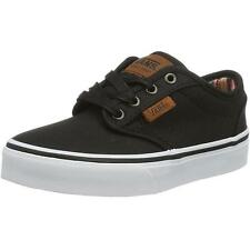Vans Atwood Waxed Youth Black Textile Trainers Shoes