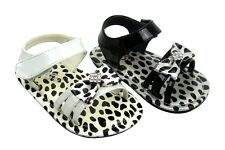 Sandals black or white 20 21 22 23 24 25 Leopard Lacquer Baby Girl Ella Jonte