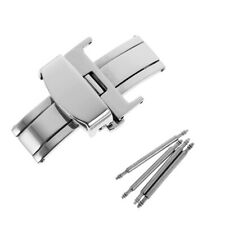 Stainless Steel Deployment Clasp for Panerai Watch Band Strap Buckle 18/20mm