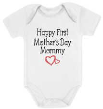 Happy First Mother's Day Mommy Gift for New Moms Cute Baby Bodysuit New Mother