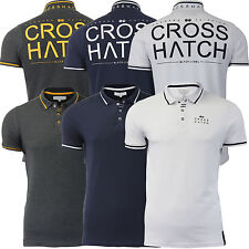 Mens Crosshatch SUMMER LATEST T-Shirt Collared Cotton Short Sleeve Casual Polo