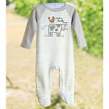Mud Pie Farmhouse Cow Rooster Footed Sleeper- Cute Shower Gift!