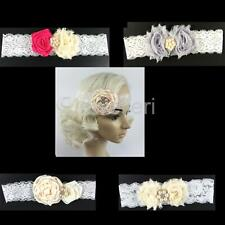 Lovely Kids Girls Flower Lace Pearls Headband Hair Band Hair Accessories