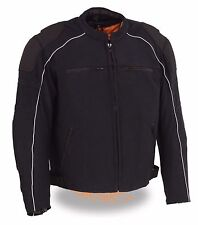 MEN'S MOTORCYCLE MESH RIDING JACKET W/ REMOVABLE RAIN JACKET LINER ARMORS INSIDE