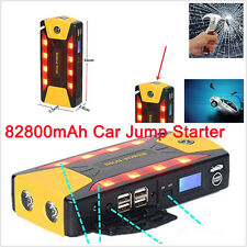 12V 82800mAh Portable Car Jump Starter Booster Charger Battery &Power Bank ABS