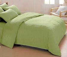 1000TC COMPLETE BEDDING COLLECTION 100% EGYPTIAN COTTON (SAGE SOLID) ALL SIZE