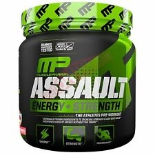 Muscle Pharm ASSAULT ENERGY+STRENGTH 30Serves - Blue Raspberry Or Fruit Punch