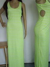 BEBE 2B dress sleeveless Green White stripe womens maxi dress S M nwt