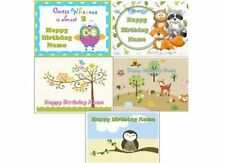 EDIBLE CAKE IMAGE WOODLAND ANIMALS OWL & MORE ICING SHEET BIRTHDAY PARTY TOPPER