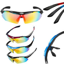Polarized Cycling PC Sunglasses Bicycle Goggles Eyewear+5Lens Outdoor Bike Sport