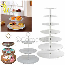New Acrylic & 3 Tier Ceramic Round Table Display Cakes Stand Platter Rack Holder