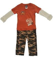 Baby Boy Rock N' Roll 2 Piece Long Sleeve Shirt & Camo Pant Set, Sizes 12-24 Mo