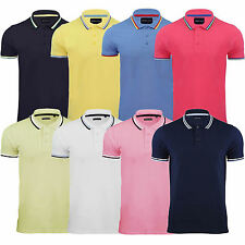 NEW Mens Polo T-Shirt BY BRAVE SOUL Cotton Short Sleeve Top TippedS M L XL XXL