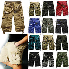 Mens Military Army Combat Trousers Tactical Camo Pants Cargo Shorts 3/4 Knee