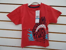 Infant Boys Tommy Hilfiger $18.50 Red  'Here Comes Trouble' Shark T-Shirt Sz 24m