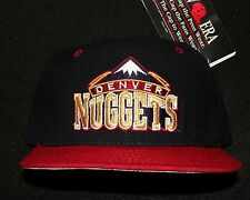 1990s DENVER NUGGETS VINTAGE NBA NEW ERA 100% WOOL 5950 FITTED CAP