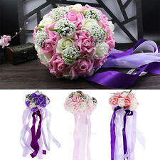 Artificial Roses Floral Fake Flowers Seeds Wedding Bouquet Party Room Decoration