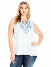 Lucky Brand Women's Plus-SZ Tencel Embroidered Tank Top - Choose SZ/Color