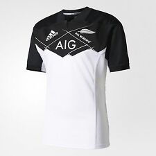 adidas Performance ALL BLACKS MEN'S RUGBY AWAY JERSEY White-Size XS,S,M, L Or XL