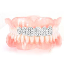 Plated HIP HOP Teeth Grillz With Vampire Teeth Plated Iced Out Grillz PR