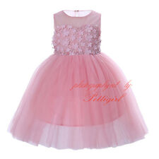 Flower Girl Dress Kids Lace Tulle Princess Party Wedding Pageant Communion Dress