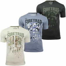 Mens T-Shirt by Firetrap 'Anacost' Short Sleeved