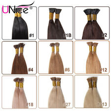 """50g/100S Pre-bonded Stick I-tip Human Hair Extensions Straight Hair 18""""20""""22""""24"""""""