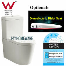 Back to Wall Ceramic Toilet Suite S or P TRAP Non-electric Bidet Seat Soft Close