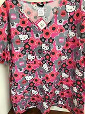 SCRUBS Scrub Top HELLO KITTY XS S M L XL 2X 3X