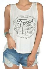 Property of Texas Free Spirit Western Cowgirl Feather Cactus Sexy Tank Top NWT